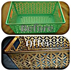 For closet bins - Dollar Tree finds. From drab to fab. Container from dollar tree. Spray paint it the color of your chose. A simple and easy way to glam up dollar tree bins. Dollar Tree Finds, Dollar Tree Crafts, Dollar Tree Decor, Home Crafts, Diy Home Decor, Diy And Crafts, Garden Crafts, Decoration Evenementielle, Diy Spray Paint