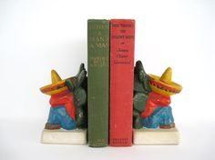 Vintage Bookends Mexican Sombrero Siesta by BrooklynStVintage, $14.00