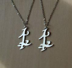 Set de deux Parabatai Rune pendentif colliers par TinkerHome