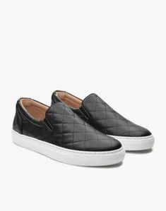 466787feff8ce5 GREATS® Wooster Quilted Leather Slip-On Sneakers