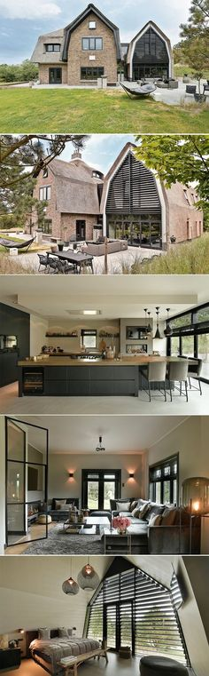 Modern villa This characteristic, modern villa with a thatched roof is . Build Your Own House, Thatched Roof, Luxury Homes Interior, Trendy Home, Modern Exterior, Inspired Homes, House Rooms, Home Fashion, Villas