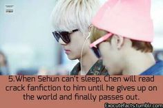 Exo Fact ahahahahahahaha omg crack fanfiction; see fanfic is not a waste of time :P