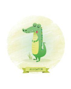 Crèche de lart impression crocodile par IreneGoughPrints sur Etsy