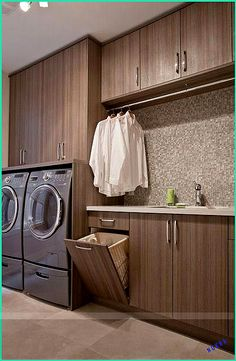 16 Beautiful Built-in Wall Laundry Hamper and Cabinet Isnpiration – Laundry Room Ikea Laundry Room Cabinets, Wood Laundry Hamper, Basement Laundry, Farmhouse Laundry Room, Laundry Room Storage, Laundry Room Design, Closet Storage, Modern Laundry Rooms, Home Modern
