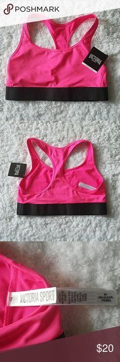 Victoria Secret sport bra Victoria Secret hot pink and black sport bra. Brand new never worn super cute!!! Victoria's Secret Intimates & Sleepwear Bras