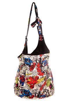 Marvel Universe Heroes Hobo Bag | Hot Topic