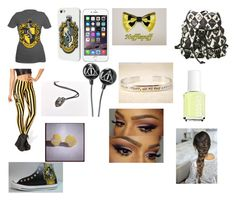 """Hufflepuff school outfit"" by olivia-huffer on Polyvore"