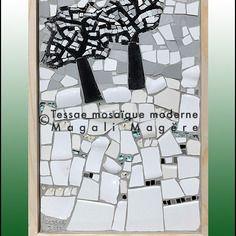 L'Hiver, tableau en mosaïque de Tessae mosaïque moderne