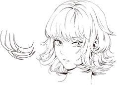 キャラクターの個性や特徴を表現するために、髪の毛は欠かすことのできないパーツです。たとえいい表情が描けても、髪がうまく描けないとキャラクターの魅力は引き立ちません。今回は、男女それぞれの基本的な髪の描き方を、前側・後ろ側に分けて詳しい手順とともに紹介します! Hair Reference, Drawing Reference Poses, Drawing Skills, Digital Painting Tutorials, Digital Art Tutorial, Art Tutorials, Drawing Hair Tutorial, Manga Drawing Tutorials, Manga Hair