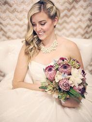 Unique dusty purple bridal bouquet via @Style Me Pretty