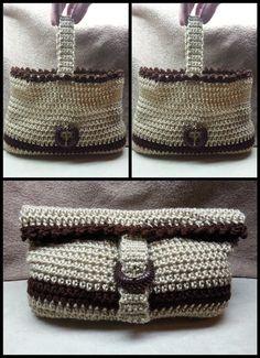 How to Crochet: Easy Crochet Handbag Crochet Purse Beginner #TUTORIAL