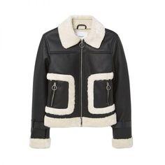 Faux Fur Appliqué Jacket, Mango $100