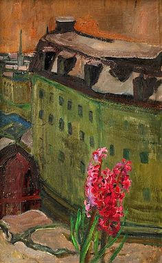 VERA NILSSON 1888-1979 View of Stockholm with Hyacinth
