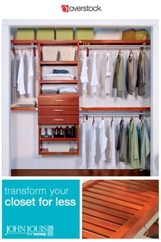 Well-built of solid wood, these stunning closet systems by John Louis Home are designed for the modern lifestyle. Choose a complete closet set, or separate organizers, shelves, drawers, and towers. Shop more at Overstock.com!