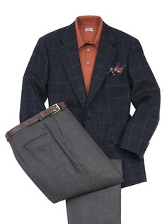 'THOMAS' Windowpane Cashmere Sports Jacket. $799.00