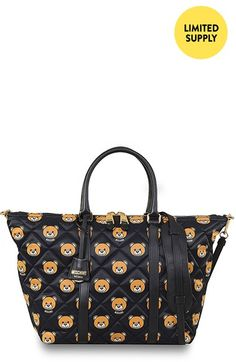 9db392f02096 Moschino Bear Print Quilted Convertible Weekend Shopper available at   Nordstrom Simple Bags