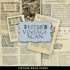 FREE DIGI SCRAPBOOK VINTAGE BOOK PAPERS