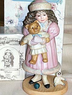 "Jan Hagara Porcelain Figurine Winter Aspen by Jan Hagara #S20613 1993 5""   eBay"