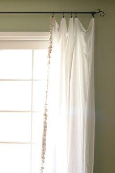 simple ruffle curtain