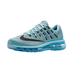 Nike Women's Air Max 2016 Running Shoes ($190) ❤ liked on Polyvore featuring shoes, athletic shoes, blue, nike footwear, holiday shoes, blue running shoes, running shoes and mesh running shoes
