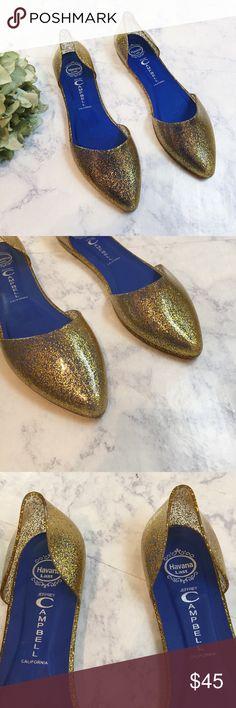 NEW Jeffrey Campbell Havana Last Gold Jelly Flats Jeffrey Campbell Havana Last Jelly Shoes   New without box  Size 9 Jeffrey Campbell Shoes Flats & Loafers