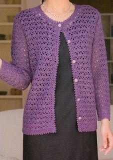 14 Crochet cardigan pattern by Hitomi Shida (志田 ひとみ) Crochet Bolero Pattern, Gilet Crochet, Crochet Coat, Crochet Jacket, Crochet Blouse, Crochet Clothes, Crochet Stitches, Crochet Patterns, Jacket Pattern