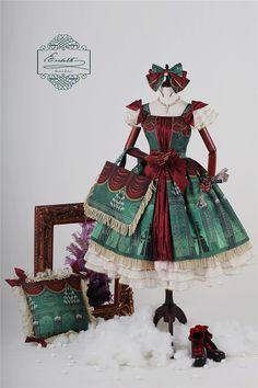#LolitaUpdate: Classical Puppets [-☃❤❅-Elisabeth+Xmas' Eve-☃❤❅-] Series Harajuku Fashion, Japan Fashion, Kawaii Fashion, Lolita Fashion, Visual Kei, Monster High, Gothic Lolita, Lolita Style, Grunge