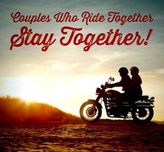 Riding together is awesome! Whether on the back of his bike, or by his side on my own bike.riding as a couple rocks! Biker Couple, Motorcycle Couple, Motorcycle Outfit, Biker Quotes, Motorcycle Quotes, Funny Motorcycle, Motorcycle Travel, Cruiser Motorcycle, Motorcycle License