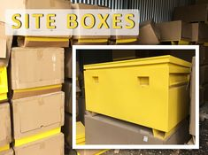We have HEAPS of heavy duty site boxes that are available online NOW in the Tools and Trade Equipment Clearance auction! These site boxes include:  🛠️ Forklift skid base plate 🛠️ UV Resistant yellow powder coated finish 🛠️ Weather seal to keep the contents dry  Plus plenty of other features and MANY more tools and trade equipment online www.lloydsonline.com.au/AuctionLots.aspx?aid=7883&utm_content=buffer40017&utm_medium=social&utm_source=pinterest.com&utm_campaign=buffer