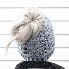 messy bun hat crochet messy bun beanie   The Messy by 906Studios