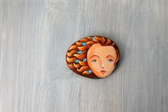 Painted+stone.++painted+pebble.+painting+on+stone.+by+sabiesabi,+$25.00
