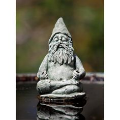 Have to have it. Campania International Fred The Meditating Gnome Cast Stone Garden Statue
