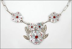 A SONNY WALLACE SILVER, MOTHER-OF-PEARL, AND ENAMEL NECKLACE. Lot 150-7117 #jewelry