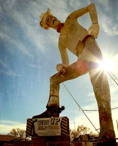 the town I grew up in has the worlds largest cowboy statue... and it farts sunshine.