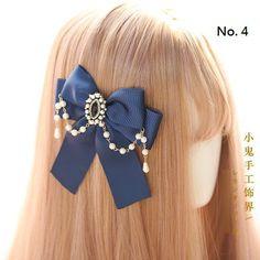 Hair Ribbons, Diy Hair Bows, Bow Hair Clips, Flower Hair Clips, Hair Barrettes, Hair Ties, Kawaii Hairstyles, Headband Hairstyles, Diy Hairstyles