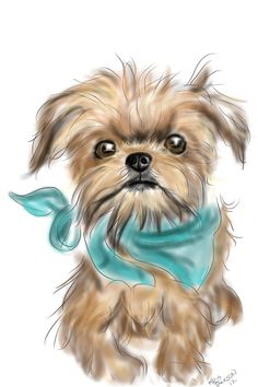 Brussels Griffon Blank Note Card by RKidsRDogs on Etsy, $8.00