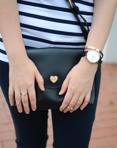 another side of me: Chic Navy Stripes