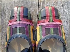Vintage Shoes Made in Italy by ZOCAL Multicolor Leather