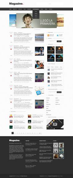 magazine blog layout