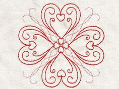 Heart Borders Machine Embroidery Designs http://www.designsbysick.com/details/heartborders