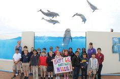 2nd, 3rd and 4th graders from Grace Academy in Ormond Beach, FL joined us at Marineland Dolphin Adventure to celebrate Nellie's 60th birthday.