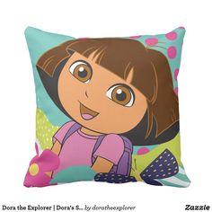 Dora the Explorer | Dora's Smile. Producto disponible en tienda Zazzle. Decoración para el hogar. Product available in Zazzle store. Home decoration. Regalos, Gifts. #cojín #pillows