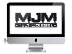 Logo criado para a empresa MJM TECNODIESEL pela agência Nkdesign