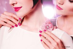 pronails nailpolish sparkles party pink