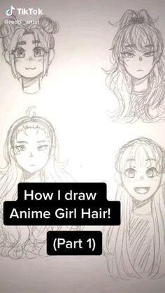 Drawing Hair Tutorial, Manga Drawing Tutorials, Art Tutorials, Manga Tutorial, Drawing Tips, Art Drawings Sketches Simple, Pencil Art Drawings, Cute Drawings, Easy Manga Drawings
