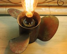 Cast Bronze Boat Propeller Lamp by RevisitedConcepts on Etsy