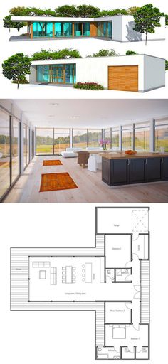 Modern House Plan, Minimalist house design                                                                                                                                                                                 More