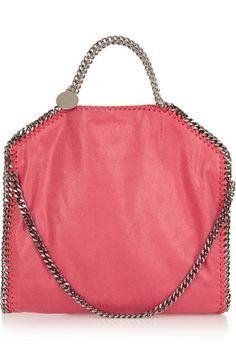 Stella McCartney The Falabella faux brushed-leather shoulder bag #StellaMcCartney