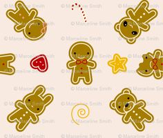 Tiny Cookie Cute fabric by marcelinesmith for sale on Spoonflower - custom fabric, wallpaper and wall decals