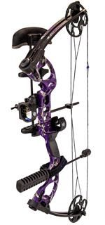 """Quest Compound Bows G5 Radical Package 15 to 70lb 17.5"""" - 30"""" Draw Right Hand Realtree AP Purple Camo"""